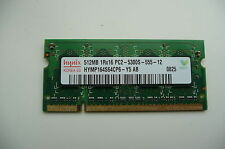 Hynix 512 DDR2 667Mhz PC2-5300 SDRAM 200-Pin no ECC para memoria DIMM para ordenadores portátiles