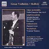 Great Violinists: Heifetz - CD - Brand New - Waxman - Sarasate - Vieuxtemps