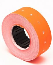 Motex Mx 5500 Label Fluorescent Orange 10 rolls of 1000 each total 10,000 labels