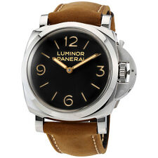 Panerai Luminor 1950 Black Dial Leather Mens Watch PAM00372