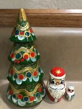 Russian Nesting Dolls Beautiful Christmas Tree 3 pcs