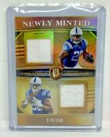2020 Gold Standard Newly Minted PITTMAN TAYLOR Colts Rookie 2 Patch RC /249