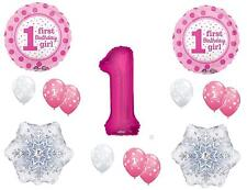 GIRL'S 1ST WINTER One-Derland Happy Birthday Party Balloons Decoration First
