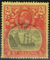 St Helena 1927 2s6d Gris & Red-Yellow SG109c une Fente Rock V. F.U Scarce