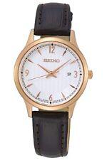 Seiko Ladies Classic Leather Strap Watch - SXDG98P1 NEW