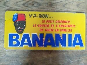 Plaque Publicitaire Verre Banania