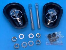 New Pair of Competition Recessed Steel Bonnet Pins Kit - Track Day Race Rally