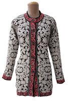 Winter Knitted Designer Cardigan Jumper Size 10 12 14 S19
