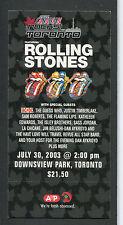 2003 Rolling Stones AC/DC JUSTIN TIMBERLAKE KONZERT unbenutzt Ticket-Licks Tour