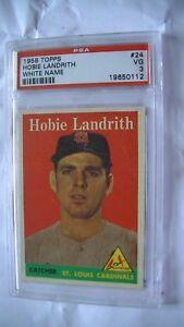 Carte de baseball de Hobie Landrith de 1958!