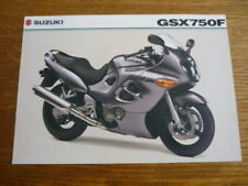 SUZUKI GSX 750F MOTORBIKE BROCHURE, 2003 POST FREE (UK)