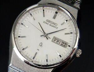 Working Seiko King Quartz Full original 1976 Vintage Mens Watch 0853 Japan uhr