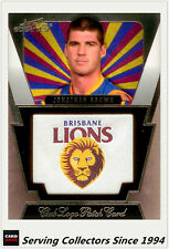 2012 Select AFL Eternity Club Logo-Captain Patch Card CP2 Brisbane J. Brown