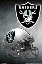 OAKLAND RAIDERS - HELMET LOGO POSTER - 22x34 NFL FOOTBALL 14167