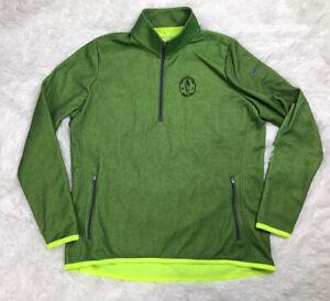 Nike Golf Women's Thermal Half 1/2 Zip Sweatshirt Size XL Neon Green Zip Pockets