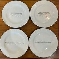 POTTERY BARN Set of 4 cocktail plates