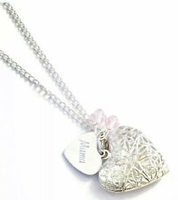 Handmade Locket Necklace with Personalised Engraved Charm.
