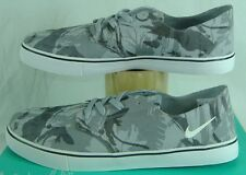 New Mens 13 NIKE Braata LR NF Gray Camo Canvas Vegan Skate Shoes $65