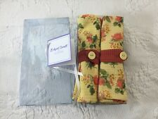 New listing April Cornell Napkin Set 4 English Country Shabby Chic Roses Napkin Rings New