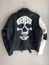 "NWOT RocaWear BLVK Black Leather Moto Jacket w/ Skull ""Genesis"", sz L"