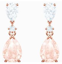 Vintage Drop Pierced Earrings Pink Rose Gold 2019 Swarovski Jewelry 5466888