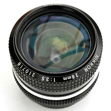 Nikkor 28mm f/3.5 AI Converted Super Sharp MF Lens. Exc++++. Tested. See pics
