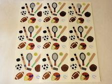 Sandylion Foil Sports Equipment Sticker Sheets: Hockey, Football, Baseball...