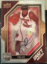 Tyrese Rice Boston College BC Basketball Upperdeck Draft Edition Autograph Card