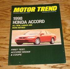 1998 Honda Accord Motor Trend Foldout Sales Brochure 98