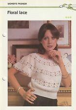 Crochet & Knitting Pattern ~ Ladies Floral Lace Top ~ Instructions