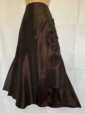 PER UNA 8 Brown Taffeta Midi Skirt Vgc STEAMPUNK VICTORIAN WHITBY