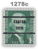1278c Jefferson 1c CANTON OHIO Bureau Precancel Prominent Americans MNH -Buy Now