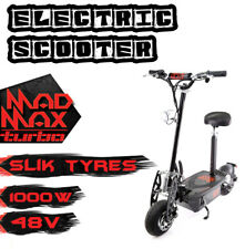 Mad Max 1000W 48V Turbo Electric Scooter - OFF Road, Boys/Girls, Adjustable/Fold