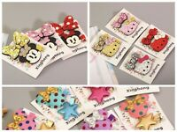 New Cute Cartoon Kitty Hair Clips Mouse Hairpin Set For Girls Kids Headwear Set