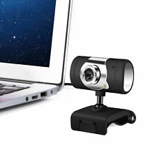 HD 12MP Webcam Camera Wide Angle With Mic USB LED For Laptop PC Mac Windows10 K