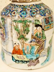 Qing Chinese Export Porcelain Canton Famille Verte Teapot