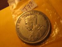 Newfoundland 1911 Rare Silver 50 Cent Coin IDJ78.