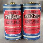 Vintage Antique 1924 Eveready Battery Unit Cell Flashlight Set of 2 Made In USA