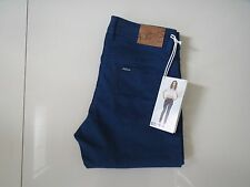 BN Riders by Lee Ladies Palace Blue  Mid Rise Straight Stretch Jeans Size 7