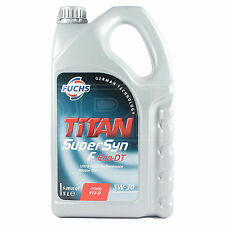 FUCHS TITAN Supersyn F Eco-DT 5w-30 Engine Oil 5 Litre ACEA A5/B5
