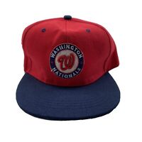 VTG Washington Nationals Baseball Hat Snapback Red And Blue