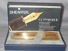 Sheaffer Vintage White Dot Connaisseur Gold Fountain Pen and Ball Pen Set