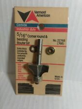 """Vermont American 22768 Carbide Tipped 5/16"""" Corner Round and Beading"""