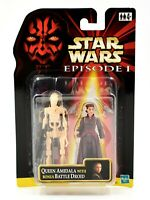 Star Wars Episode 1 - Queen Amidala & Bonus Battle Droid Action Figure Set