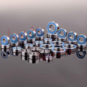 RC Traxxas E Revo Racing Ball Bearing KIT 33PCS Metric Blue Rubber Sealed