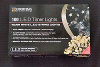 THE CHRISTMAS WORKSHOP 100 LED WARM WHITE BATTERY CHASER LIGHTS 70330