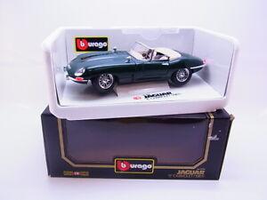 "Lote 65039 Burago 3016 Jaguar ""E"" Cabriolet 1961 Verde Modelo 1:18 IN Emb.orig"