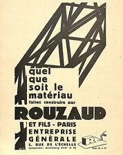 PARIS OFFICE TECHNIQUE OTUA ETS ROUZAUD ENTREPRISE GENERALE PUBLICITE
