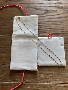Gigi Clozeau 18k Rose Gold Grey Resin Chain Necklace New