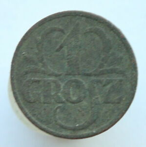 1928 Poland 1 Grosz Bronze Coin